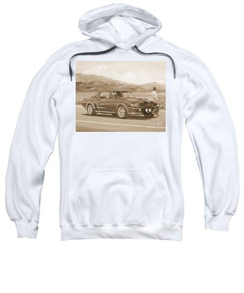1967 Ford Mustang Fastback In Sepia Sweatshirt