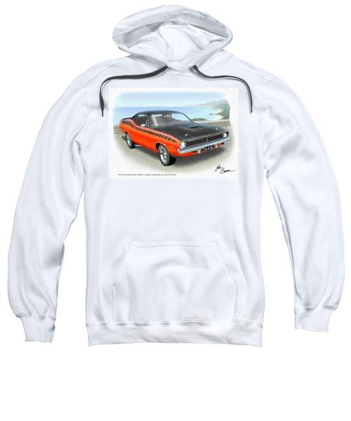 1970 Barracuda Aar  Cuda Classic Muscle Car Sweatshirt by John Samsen