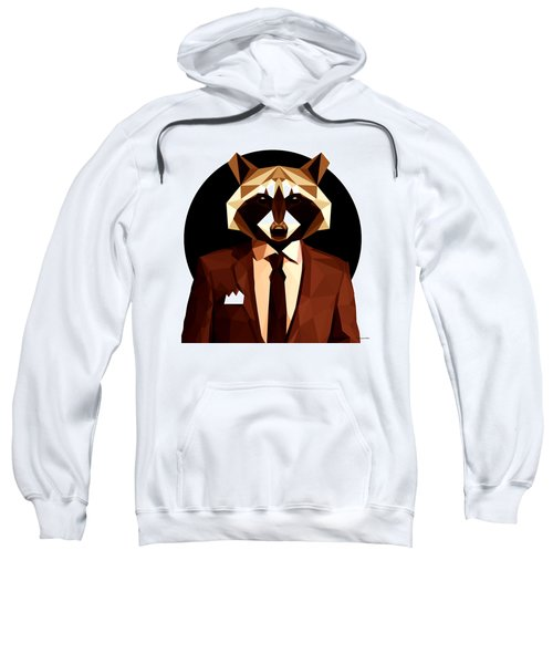 Abstract Geometric Raccoon Sweatshirt by Gallini Design