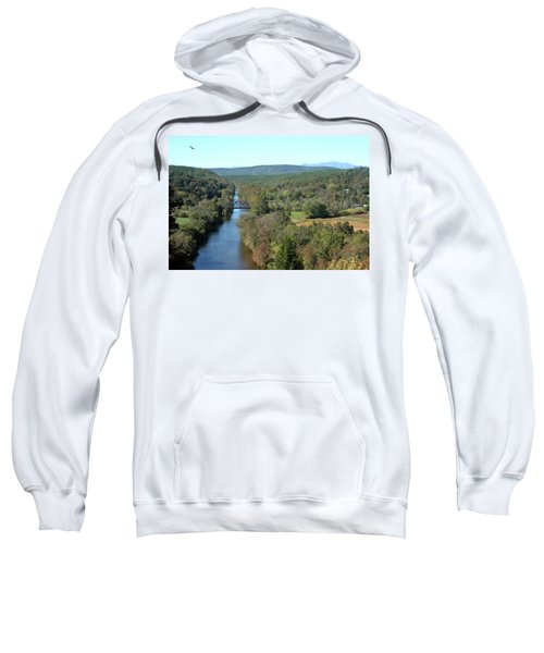 Autumn Landscape With Tye River In Nelson County, Virginia Sweatshirt