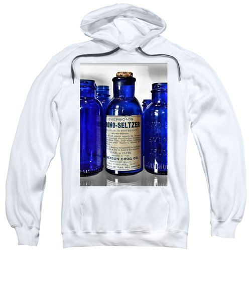 Bromo Seltzer Vintage Glass Bottles Collection Sweatshirt