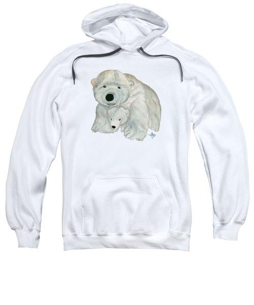 Cuddly Polar Bear Sweatshirt by Angeles M Pomata