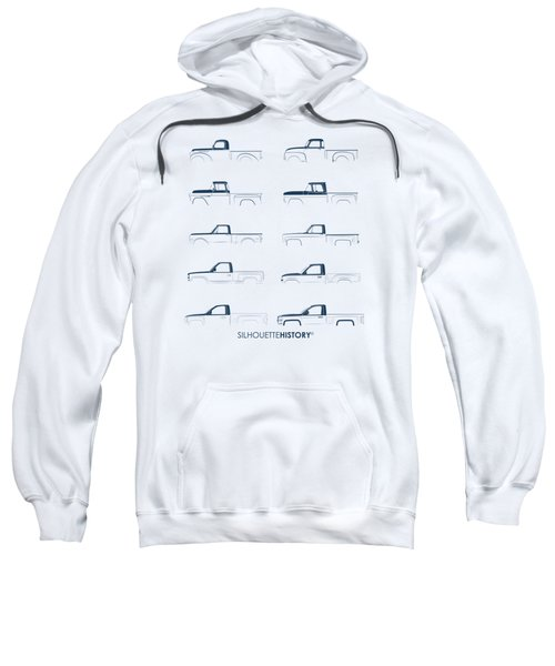 Fullsize Pickup Silhouettehistory Sweatshirt by Balazs Iker