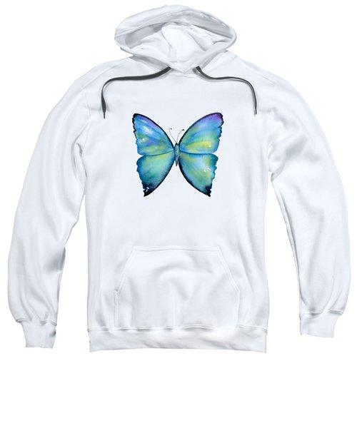2 Morpho Aega Butterfly Sweatshirt