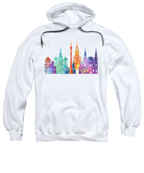 Paris Landmarks Watercolor Poster Sweatshirt