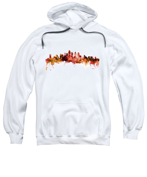 Philadelphia Pennsylvania Skyline Sweatshirt by Michael Tompsett