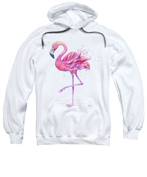 Pink Flamingo Watercolor Sweatshirt