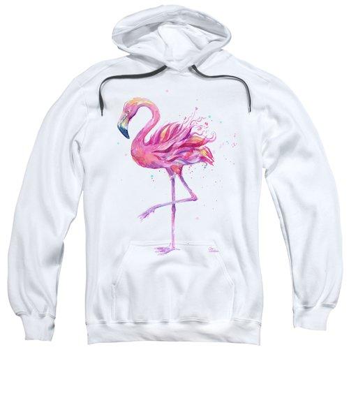 Pink Flamingo Watercolor Sweatshirt