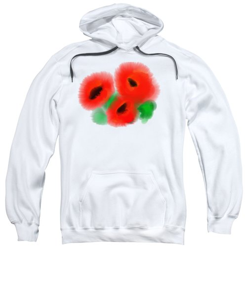 Red Poppies Sweatshirt