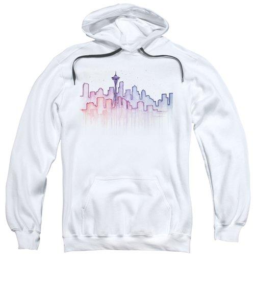 Seattle Skyline Watercolor Sweatshirt