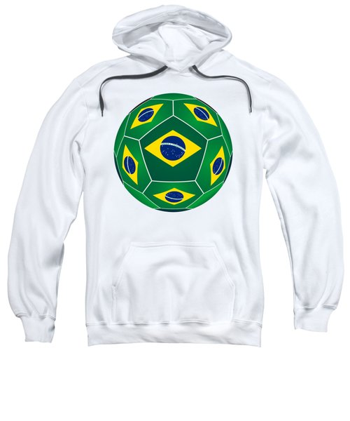 Soccer Ball With Brazilian Flag Sweatshirt