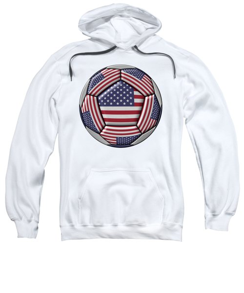 Soccer Ball With United States Flag Sweatshirt