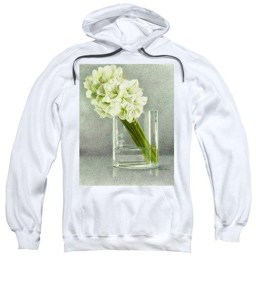 White Amaryllis Sweatshirt