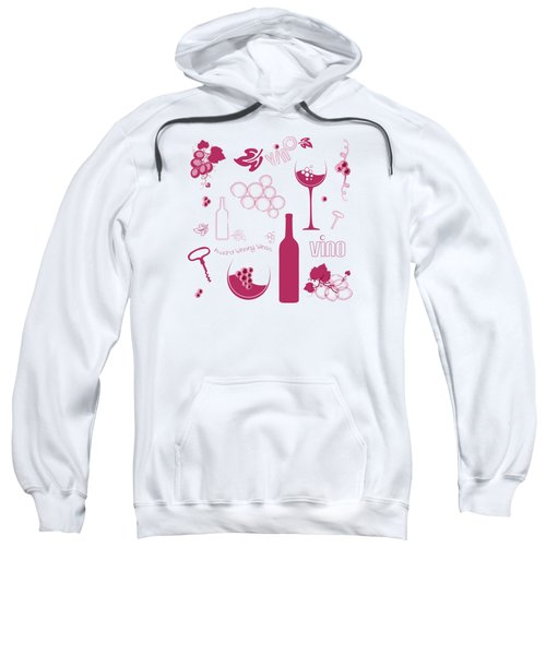 Wine Background Pattern Sweatshirt by Serena King