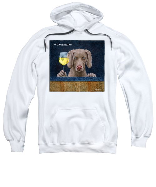 Wine-maraner Sweatshirt by Will Bullas