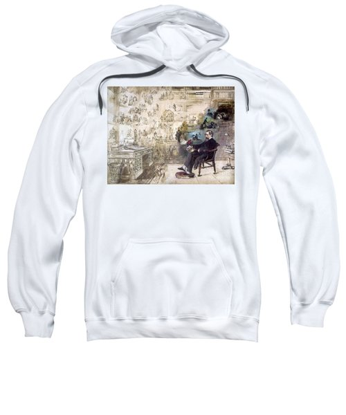 Charles Dickens 1812-1870.  To License For Professional Use Visit Granger.com Sweatshirt