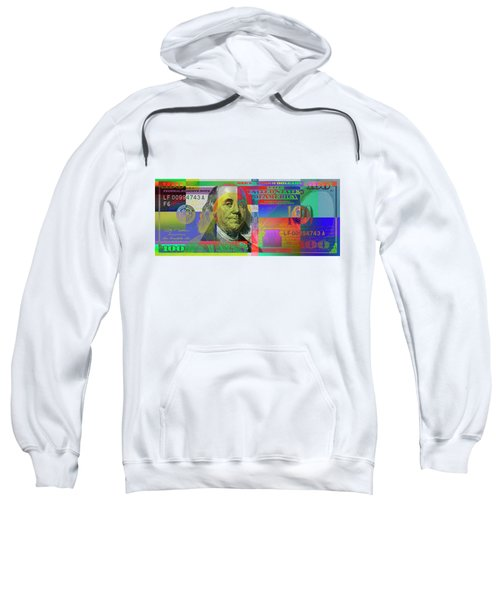 2009 Series Pop Art Colorized U. S. One Hundred Dollar Bill No. 1 Sweatshirt