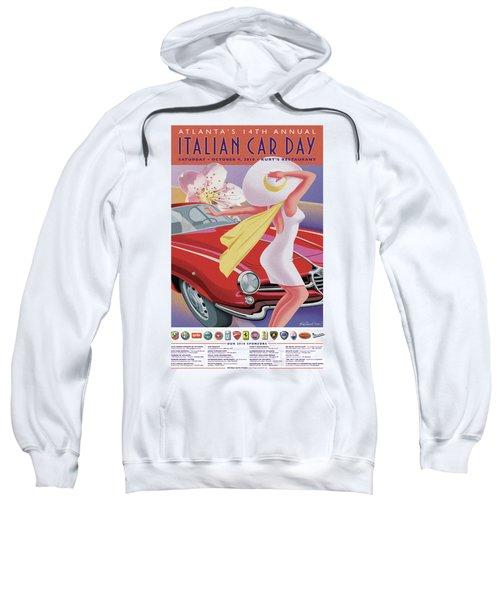 2010 Atlanta Italian Car Day Poster Sweatshirt