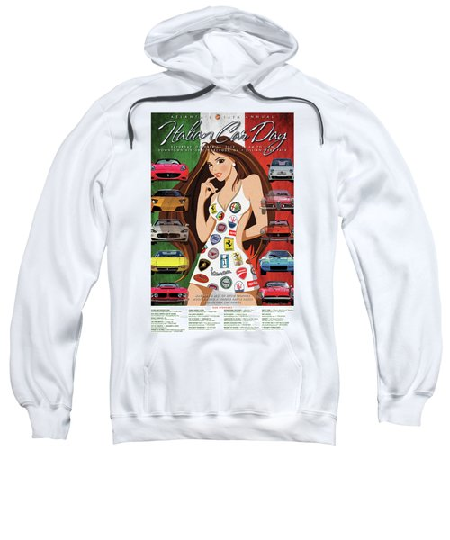 2012 Atlanta Italian Car Day Poster Sweatshirt