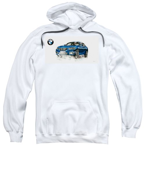 2014 B M W 2 Series Coupe With 3d Badge Sweatshirt by Serge Averbukh