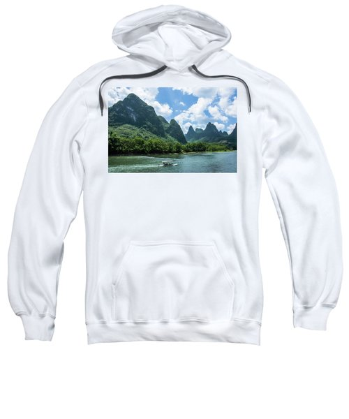 Lijiang River And Karst Mountains Scenery Sweatshirt