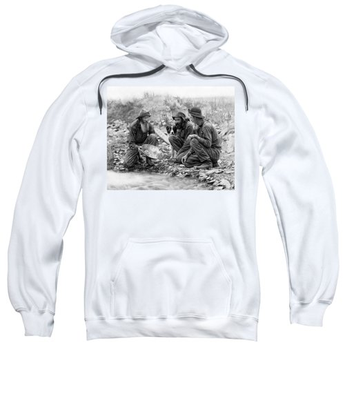 3 Men And A Dog Panning For Gold C. 1889 Sweatshirt