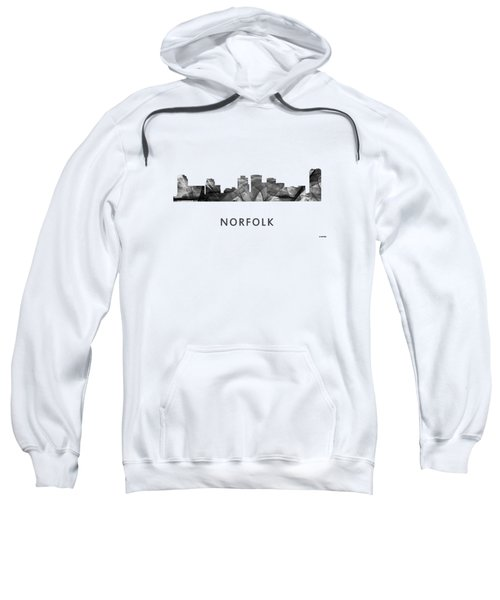 Norfolk Virginia Skyline Sweatshirt by Marlene Watson