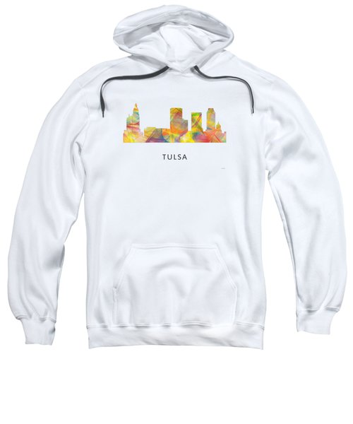 Tulsa Oklahoma Skyline Sweatshirt by Marlene Watson