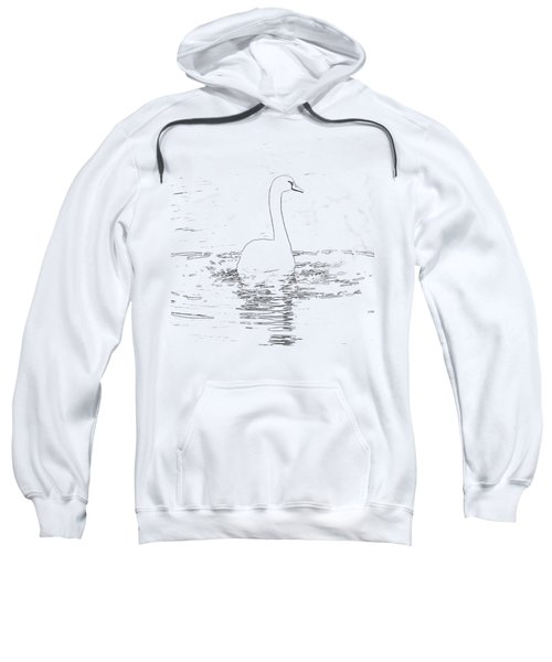 White Swan Swimming  Sweatshirt by Humorous Quotes