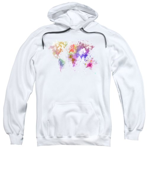 World Map Painting Sweatshirt