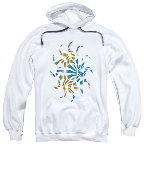 Sweatshirt featuring the mixed media 3d Spiral Art by Christina Rollo