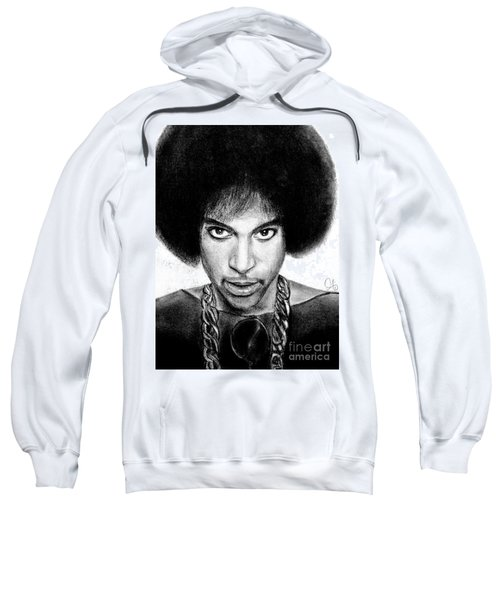 3rd Eye Girl - Prince Charcoal Portrait Drawing - Ai P Nilson Sweatshirt