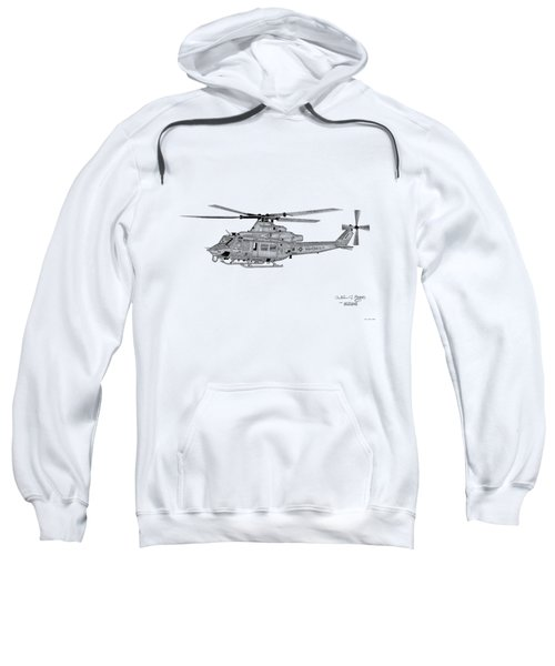 Bell Helicopter Uh-1y Venom Sweatshirt by Arthur Eggers