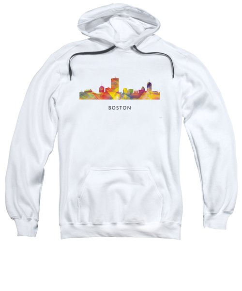 Boston Massachusetts Skyline Sweatshirt by Marlene Watson