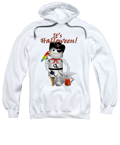 Trick Or Treat Time For Robo-x9 Sweatshirt by Gravityx9 Designs