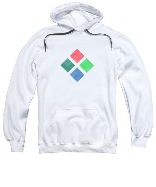 Watercolor Geometric Background Sweatshirt