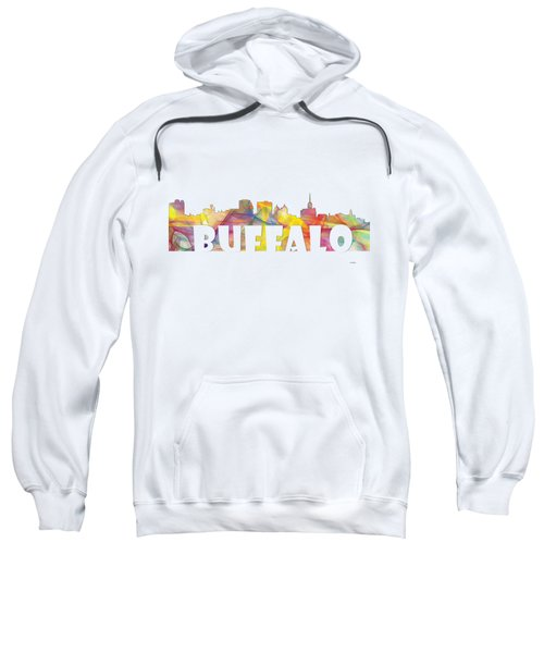 Buffalo New York Skyline Sweatshirt by Marlene Watson