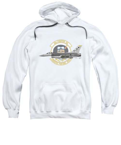 Lockheed Martin F-16c Viper Sweatshirt by Arthur Eggers