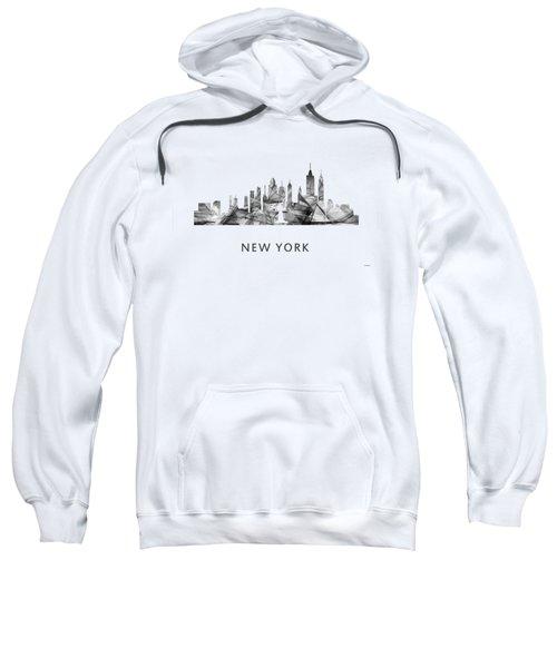 New York New York Skyline Sweatshirt by Marlene Watson