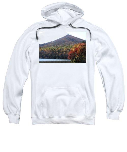 View Of Abbott Lake And Sharp Top In Autumn Sweatshirt
