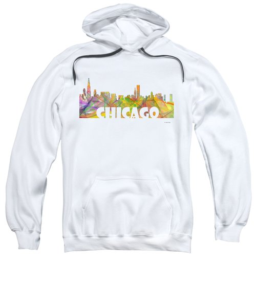 Chicago Illinois Skyline Sweatshirt by Marlene Watson