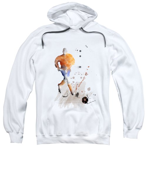 Football Player Sweatshirt by Marlene Watson