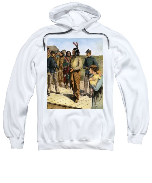 Geronimo 1829-1909.  To License For Professional Use Visit Granger.com Sweatshirt
