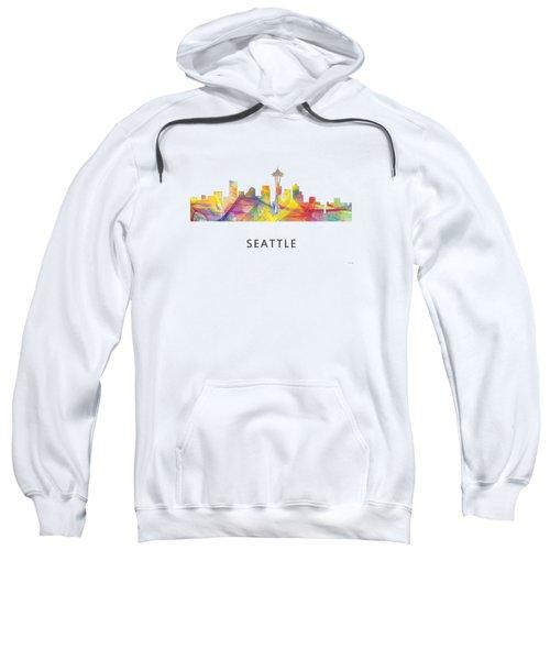 Seattle Washington Skyline Sweatshirt by Marlene Watson