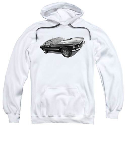 69 Mach1 In Black And White Sweatshirt