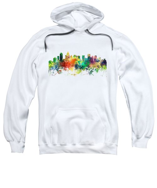 Charlotte Nc Skyline Sweatshirt by Marlene Watson