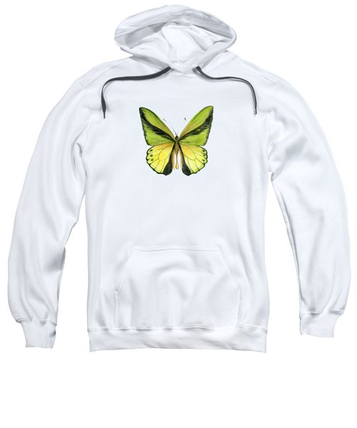 8 Goliath Birdwing Butterfly Sweatshirt