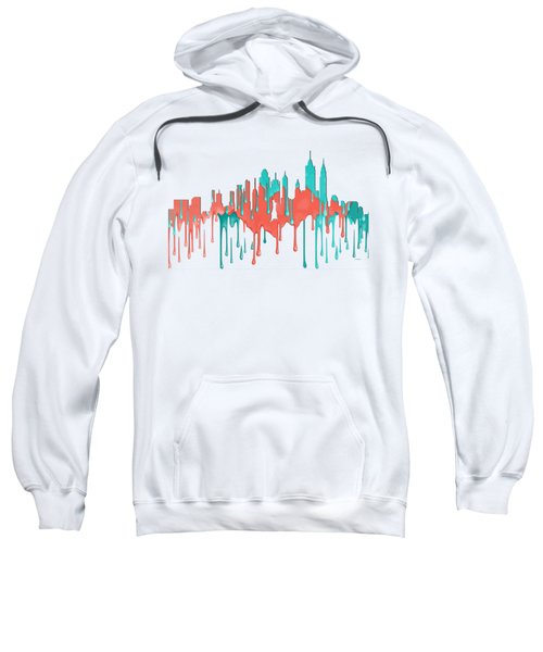 New York New York Skyline Sweatshirt by Marlene Watson