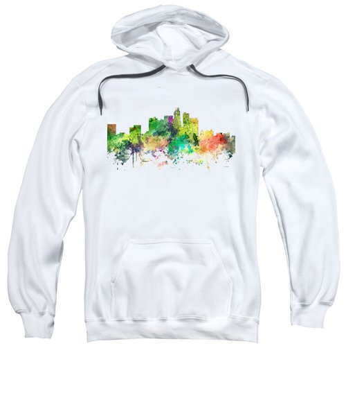 Los Angeles California Skyline Sweatshirt by Marlene Watson