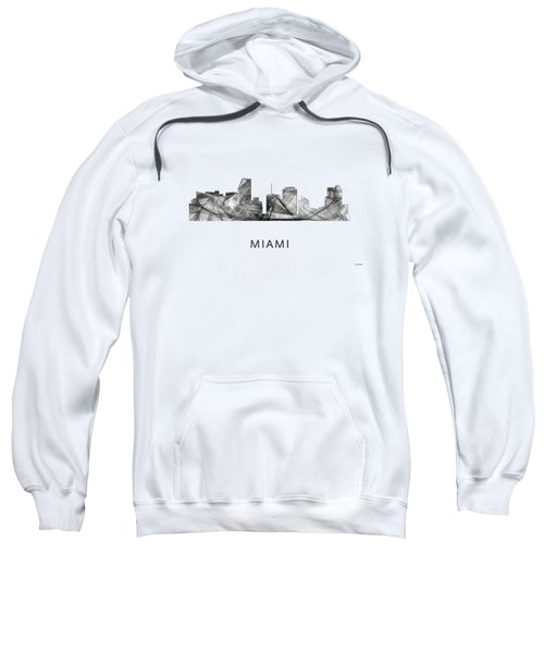 Miami Florida Skyline Sweatshirt by Marlene Watson